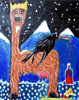 dele Lama painting adam crosland