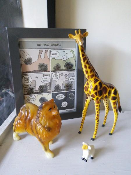 giraffe at animal zoo