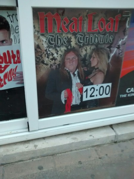 meatloaf tribute poster benidorm