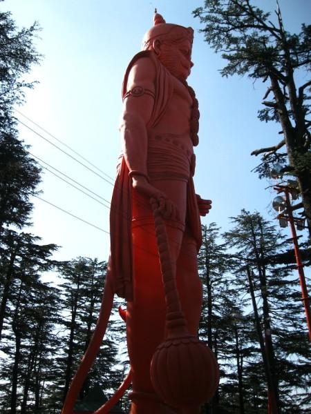 Hanuman Monkey god statue shimla
