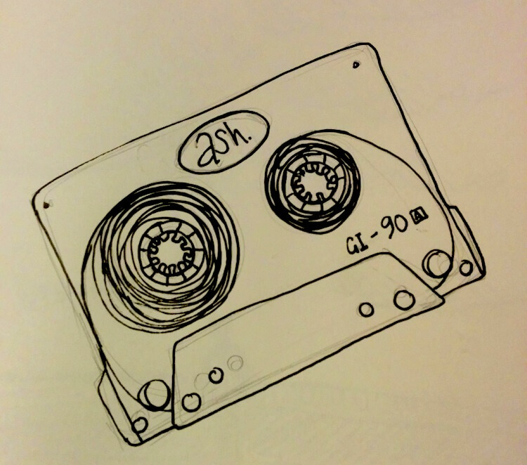 goldfinger ash tape cassette illustration