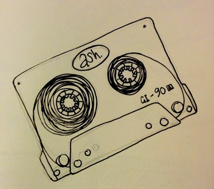 goldfinger ash tape cassette illustration