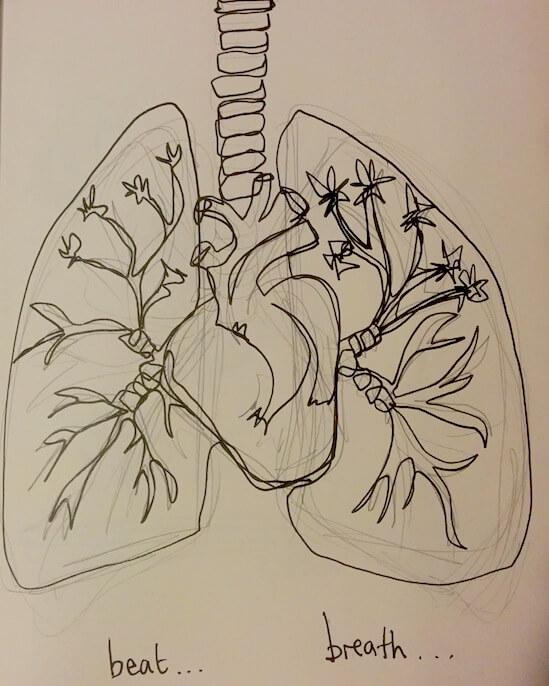 lungs leonard cohen illustration