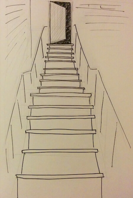 external steel stairs drawing