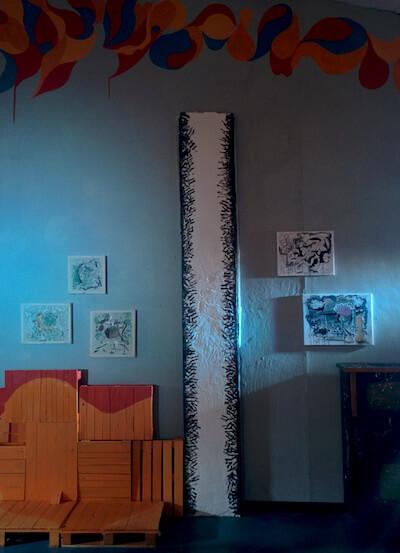 art exhibition bohemian balcony