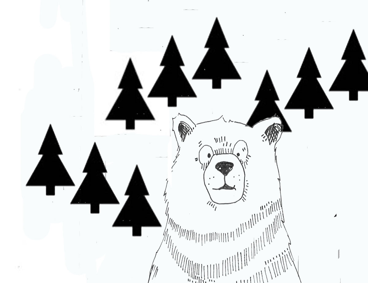 bear with trees laura morgans art