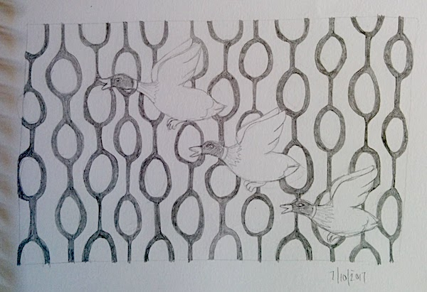 Three ducks illustration laura morgans