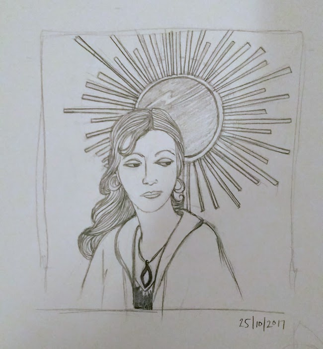 art deco woman with sun laura morgans