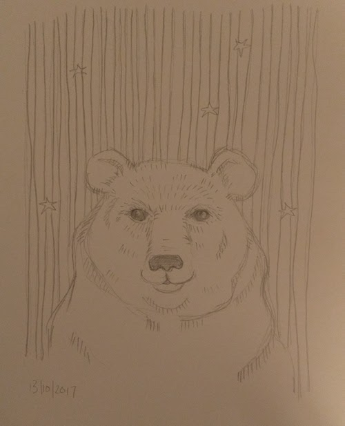 bear and stars illustration laura morgans