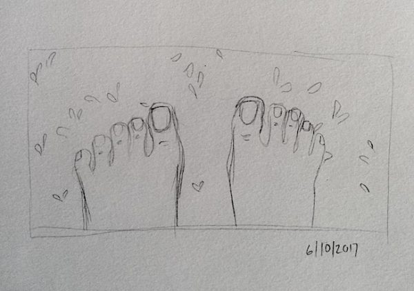inktober laura morgans toes in carpets