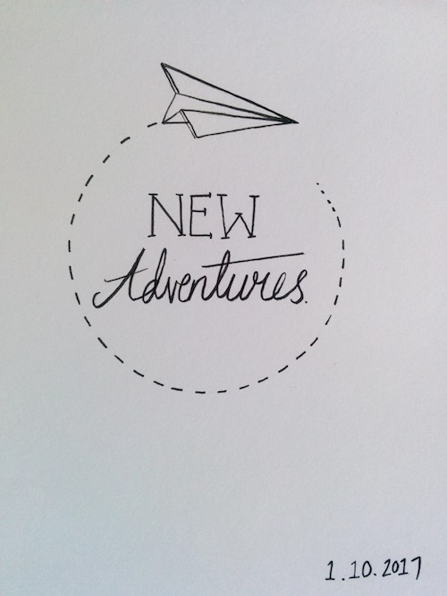 new adventures illustration paper plane
