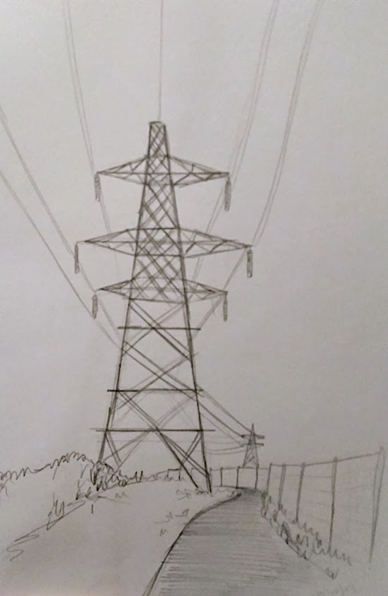 pylon line drawing inktober