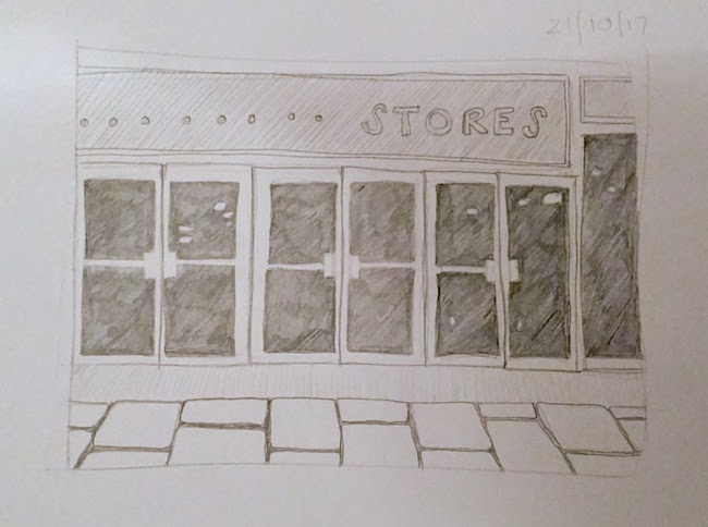 stores shop front drawing