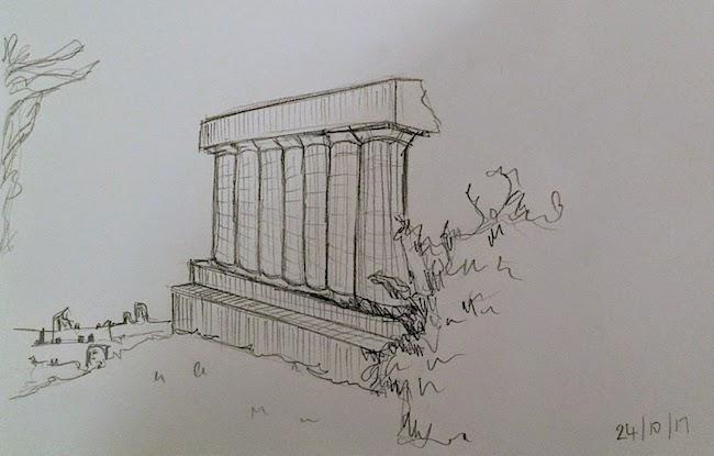 National Monument edinburgh drawing