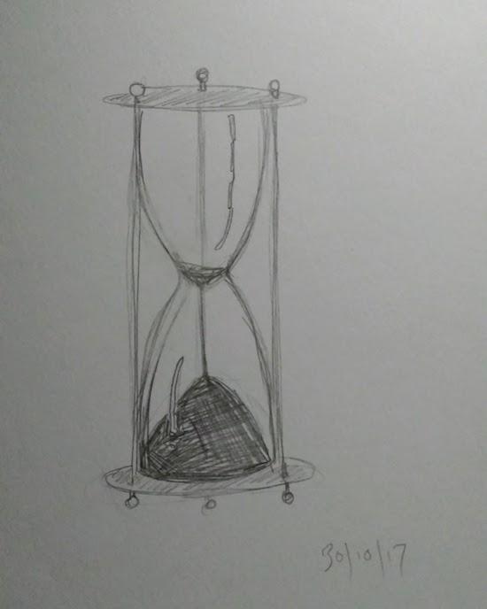 egg timer line drawing inktober