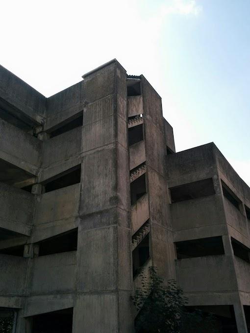 brutalist staircase eugene street bristol