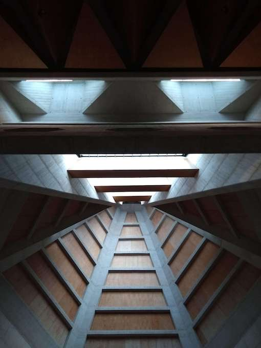 clifton catherdral brutalist interior