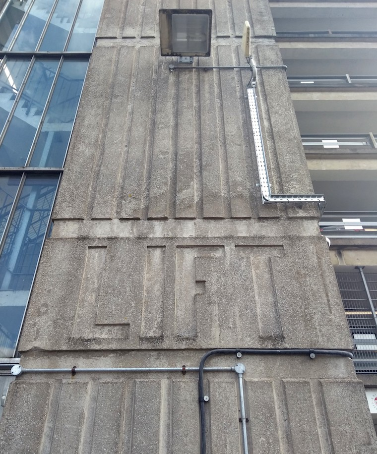 Lift concrete typography
