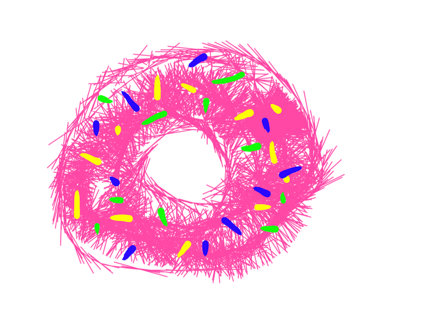 donut inktober illustration