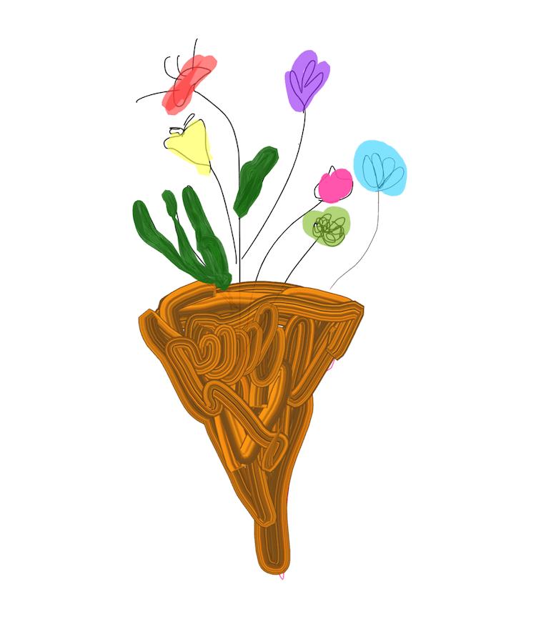 flowers inktober