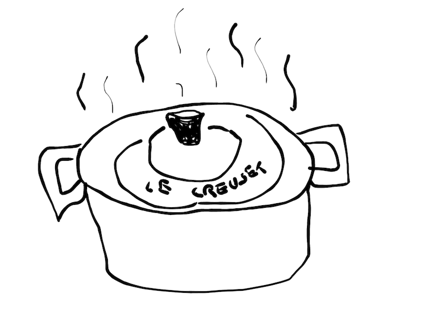 le creuset pot illustration inktober