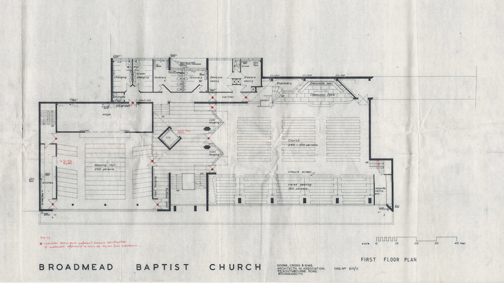 Ronald Sims broadmead baptist church architecture plans