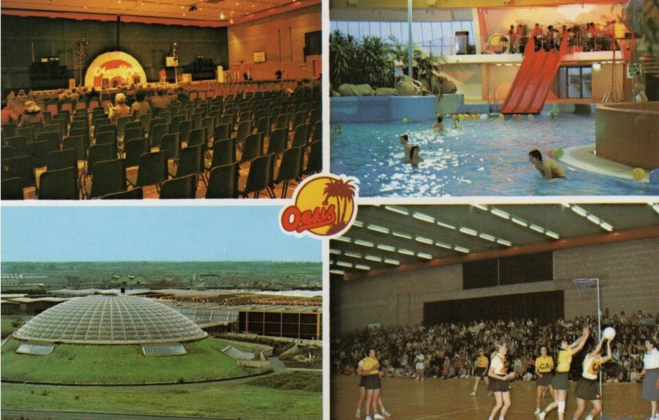vintage postcard Oasis Leisure Centre Swindon
